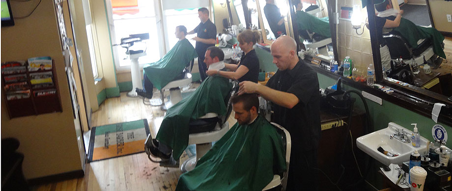 The barbers at the Irish Barber